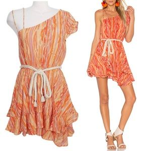 Free People Heart Shaped Face Asymmetrical Dress L